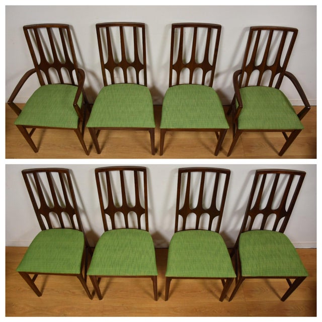 Broyhill Brasilia Walnut Dining Chairs - Set of 8 - Image 3 of 11