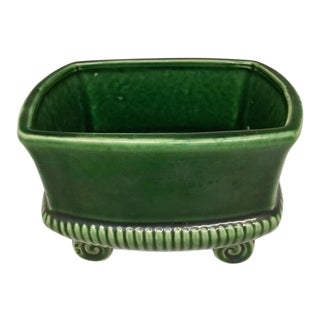 Green Ceramic Art Deco Planter