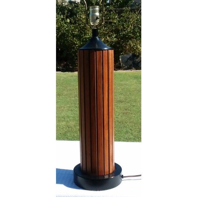 1960s Mid Century Modern Teak Lamp For Sale - Image 5 of 5