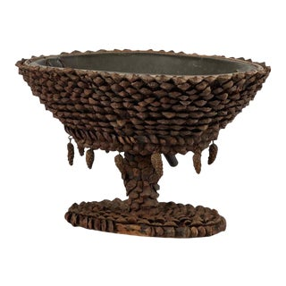 Pine Cone Decorated Wine Cooler For Sale