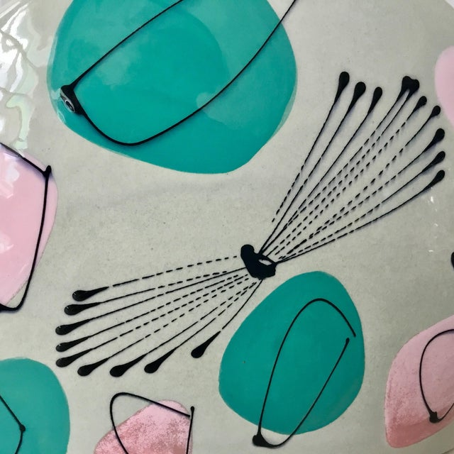 Mid-Century Atomic Pastel Pillow Vase For Sale In Dallas - Image 6 of 7