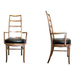 Danish Ladder-Back Arm Chairs-A Pair For Sale
