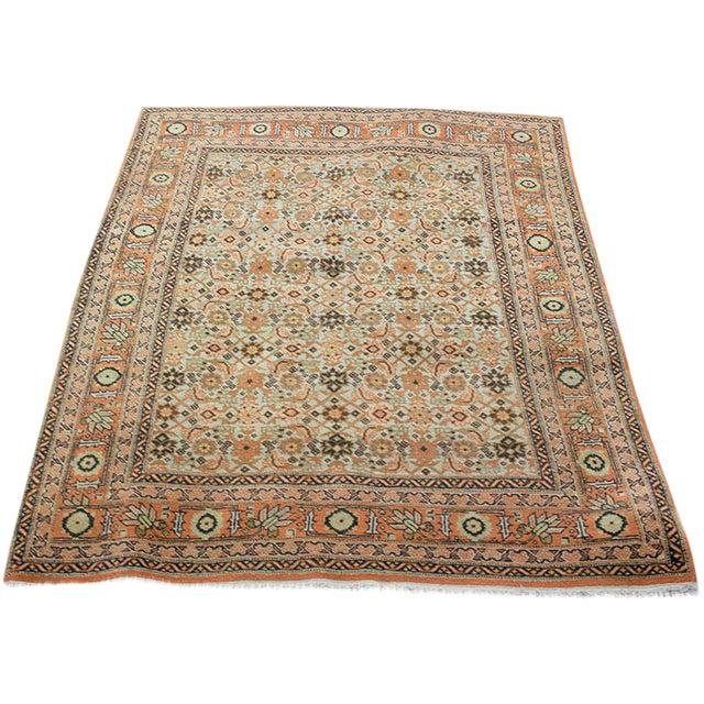 "Antique Decorative Persian Tabriz, Haji Jalili Style Area Rug - 4' x 5'5"" For Sale"