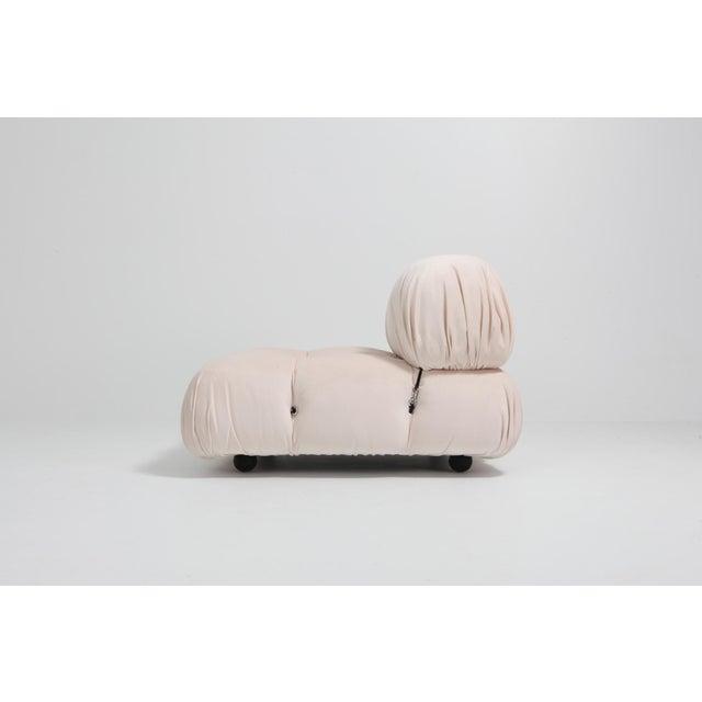 Mario Bellini Nude Rose Velvet 'Camaleonda' Sectional Sofa - 1970s For Sale - Image 6 of 12