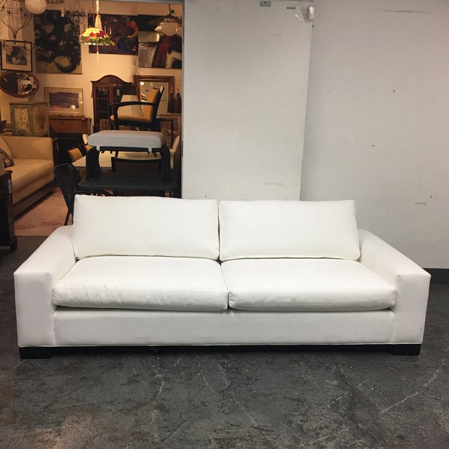 Room & Board White Ultasuede Townsend Sofa - Image 2 of 8