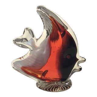 """Red Murano 3"""" Oxblood Angel Fish For Sale"""