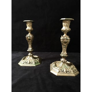 19th Century Rococo Style Brass Candle Sticks Preview