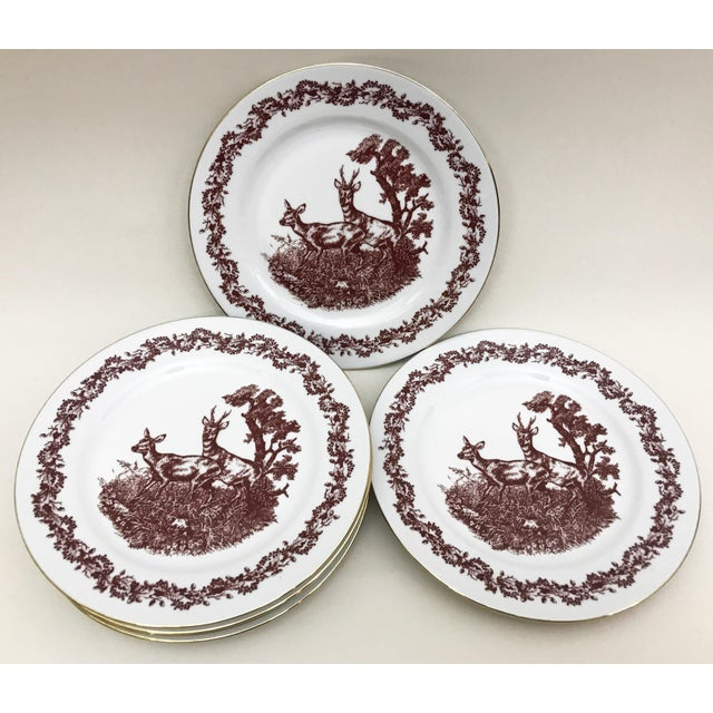 Ceramic Black Forrest Theme Jlmenau Graf Von Henneberg Dinnerware - 22 Pieces For Sale - Image 7 of 11