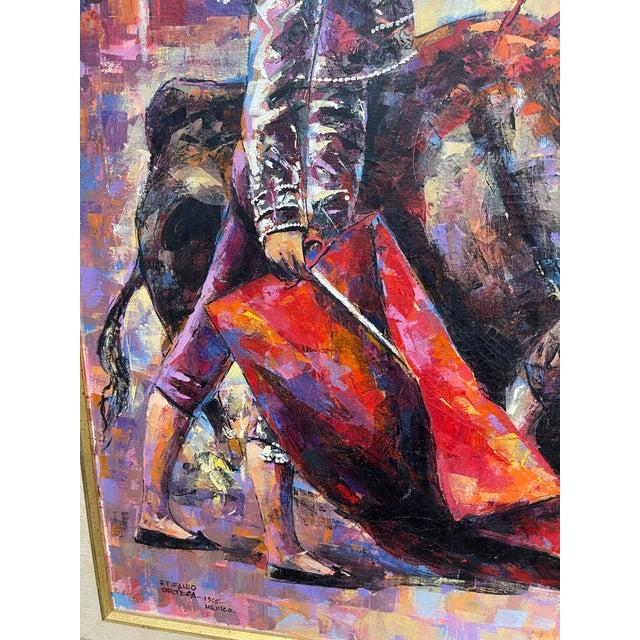 Epifanio Ortega Original Matador Painting For Sale - Image 9 of 13