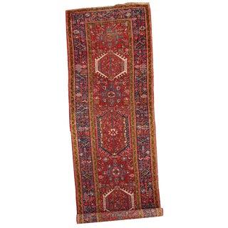 1920s Handmade Antique Persian Karajeh Runner - 3.5' X 10.8'