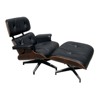 1960s Vintage Eames Lounge Chair & Ottoman For Sale