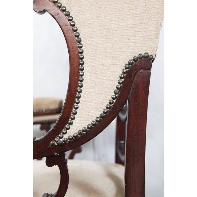 English Traditional Mahogany Wingback Armchair For Sale - Image 3 of 6