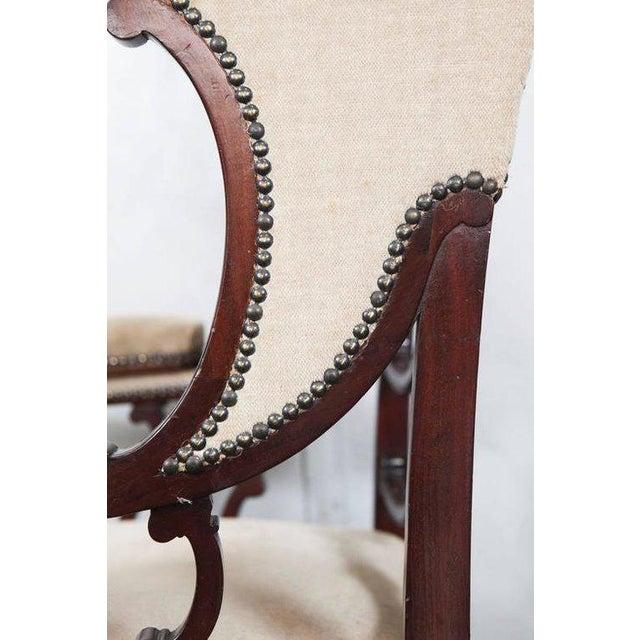 Mahogany Wingback Armchair - Image 3 of 6