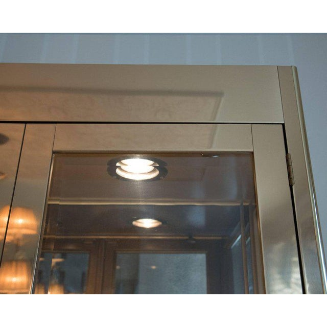 Mastercraft Mid-Century Modern Mastercraft Brass, Glass and Mirror Cabinet For Sale - Image 4 of 8