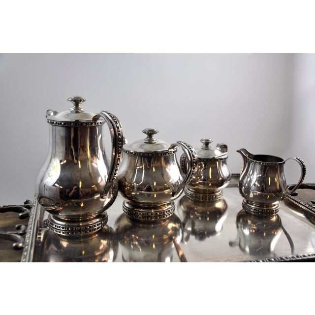 French Silverplated Coffee Tea Serving Set - 5 Pieces For Sale In New York - Image 6 of 12