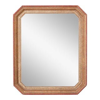 Contemporary Rippled Mirror For Sale