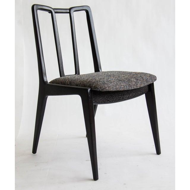 Ebonized John Stuart Dining Chairs - Set of 4 - Image 4 of 7