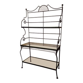 1960s Art Deco Iron Baker's Rack For Sale
