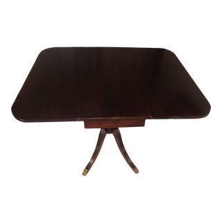 Mid Century Drop Leaf Breakfast Table For Sale