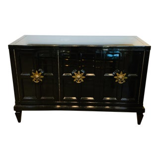 Mid 20th Century Vintage Mastercraft Lacquered Sideboard For Sale