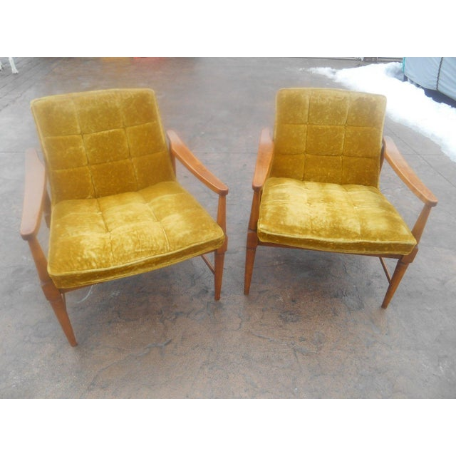 Gorgeous Pair of Vintage Mid-Century Danish Modern Club / Lounge Chairs in the manner of Wormley / Dunbar / Larsen design...