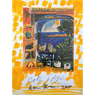 'Yellow Coast' Framed Picasso Poster by Sean Kratzert For Sale