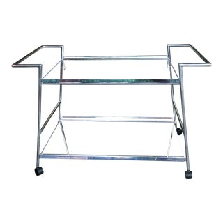 1970s Vintage Lucite and Chrome Bar Cart For Sale