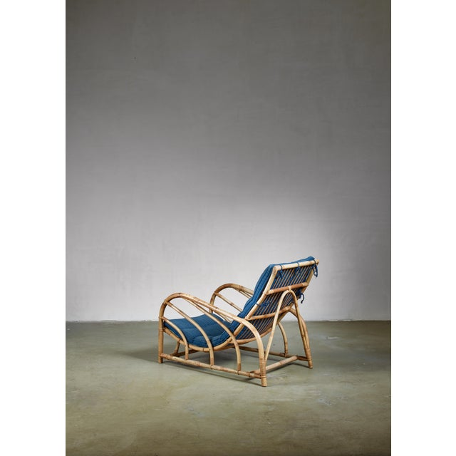 Mid-Century Modern Bamboo and Rattan Lounge Chair, Sweden, 1930s For Sale - Image 3 of 5