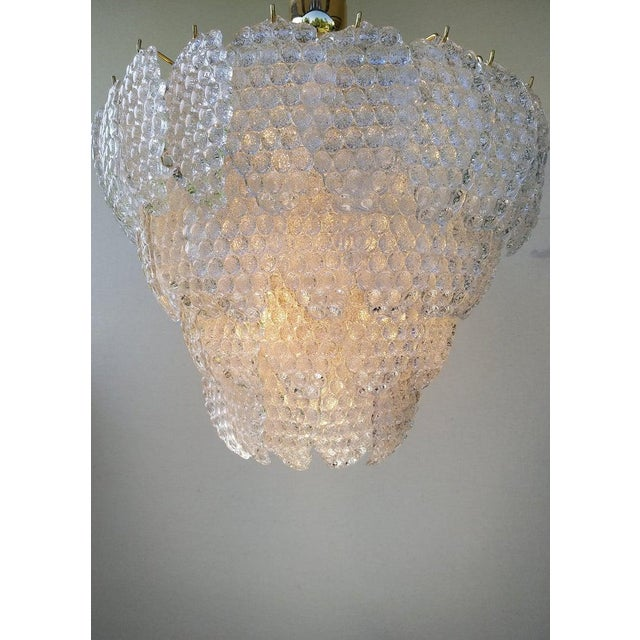 Vintage Murano Glass Ball Room Chandelier For Sale - Image 11 of 12