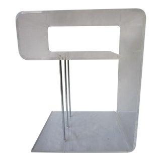 Modernist Lucite & Chrome Table