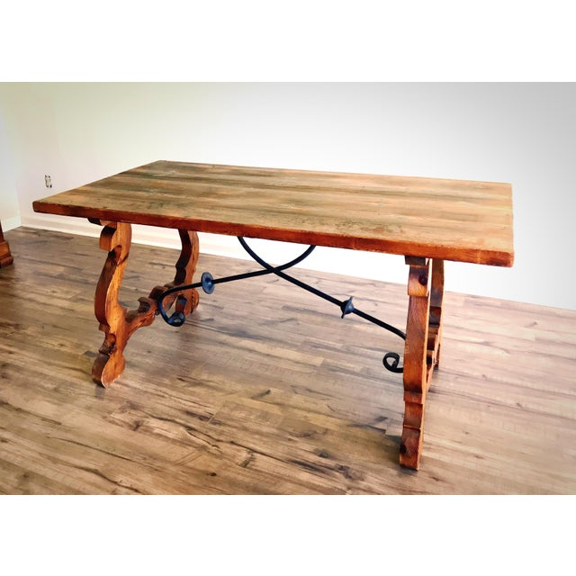 19th Century Spanish Trestle Table or Desk For Sale - Image 10 of 10