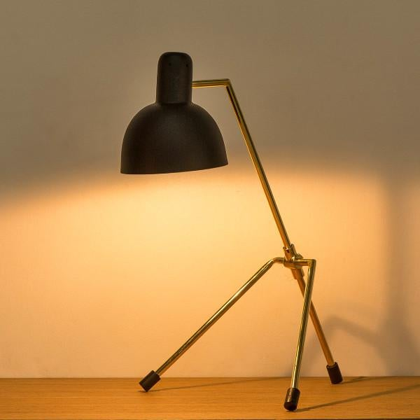 Minimalistic in design, the Rivoli lamp delivers with it's beautiful hand formed brass arms and matte black accents.