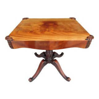 Antique Pedestal Side or Accent Table For Sale