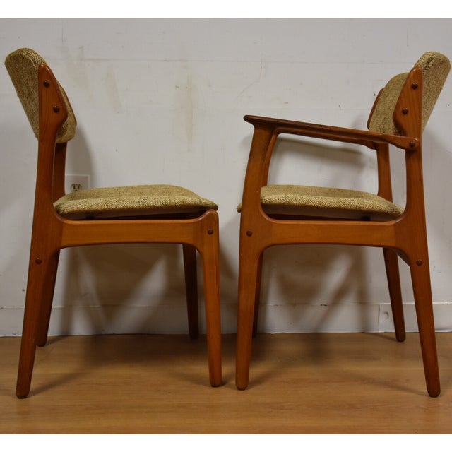 Erik Buck Teak Dining Chairs - Set of 6 - Image 5 of 11