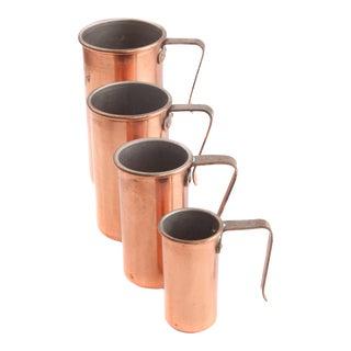 Vintage Copper Measuring Cup Set by Benjamin & Medwin - Set of 4 For Sale