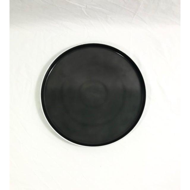 Purple Block Chromatics Dinner Plates, Set of 7 For Sale - Image 8 of 9