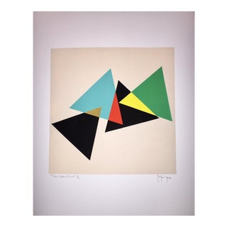 Tony Curry 7 Color Modern Abstract Print For Sale