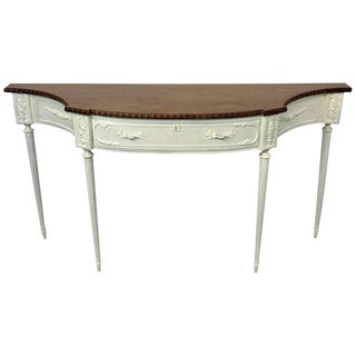 French Mahogany and Ivory-White Painted Console For Sale