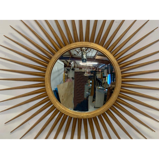 Hollywood Regency Large Hollywood Regency Parrish-Hadley Sunburst Mirror by Baker Furniture For Sale - Image 3 of 7