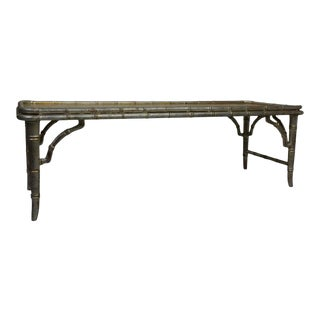 Chinaserie Faux-Bamboo Coffee Table For Sale