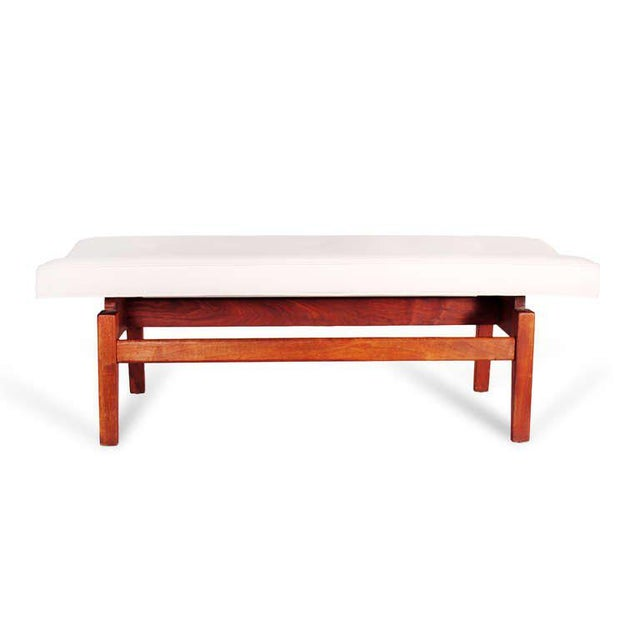 Wood Jens Risom Floating Bench, 1950s For Sale - Image 7 of 7