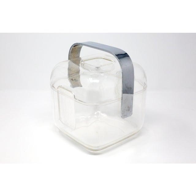 Mid-Century Modern Vintage Acrylic Guzzini Ice Bucket For Sale - Image 3 of 11
