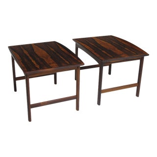 Folke Ohlsson Rosewood Side Tables - A Pair For Sale