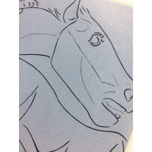Abstract 1962 Pablo Picasso Limited Edition Linocut Print For Sale - Image 3 of 5