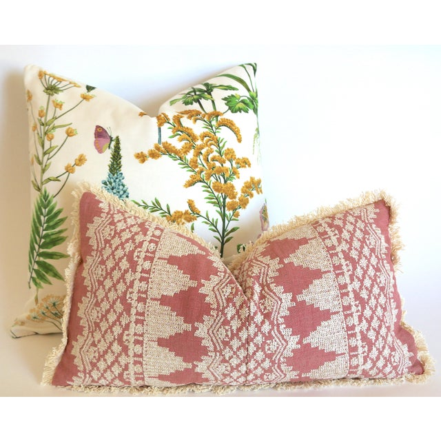 Beautiful Ferns and Flowers Pillow cover, blooming with beautifully detailed botanicals, colorful flowers and butterflies...