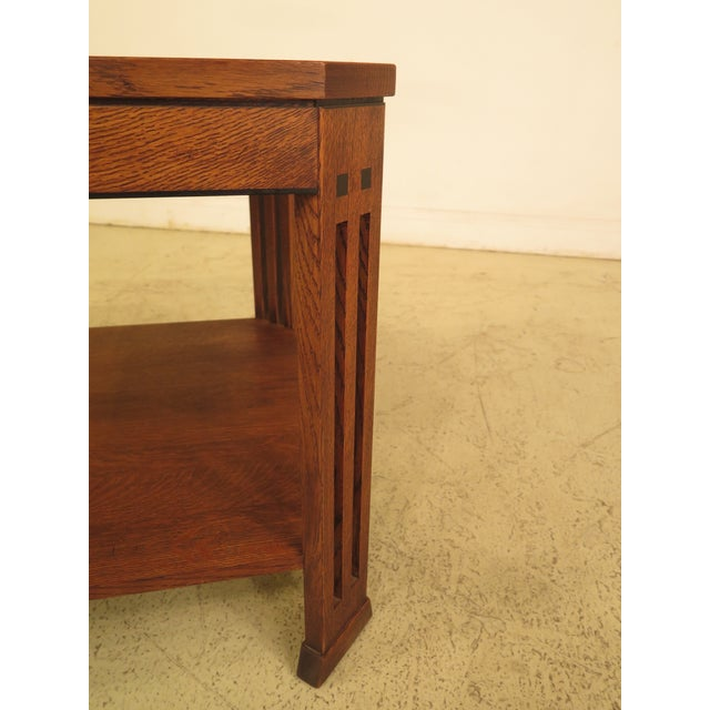 Stickley Arts & Crafts Oak Square Occasional Table - Image 5 of 8
