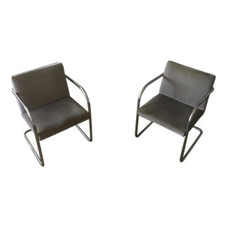 1980's Vintage Cantilever DesignBrno Armchairs- A Pair For Sale