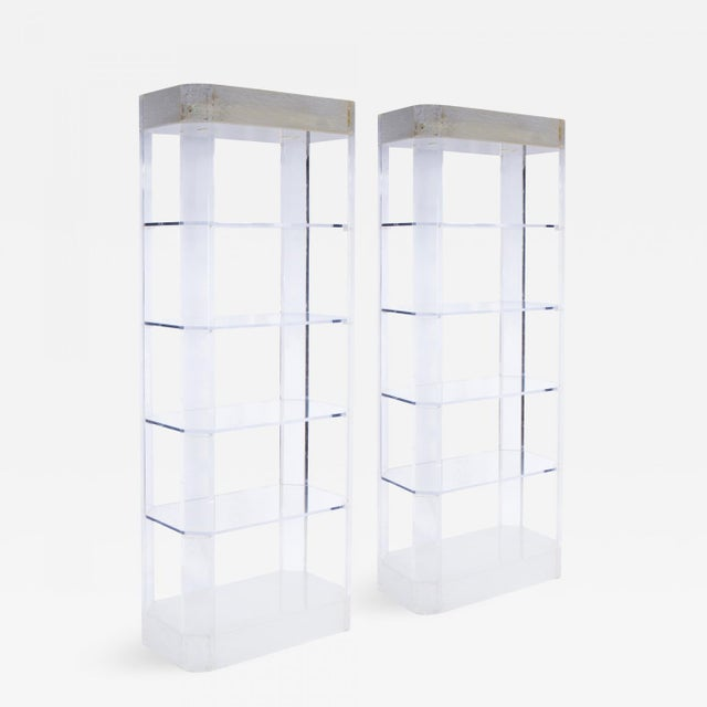 1970s Lighted Lucite Etageres - a Pair For Sale In Los Angeles - Image 6 of 6