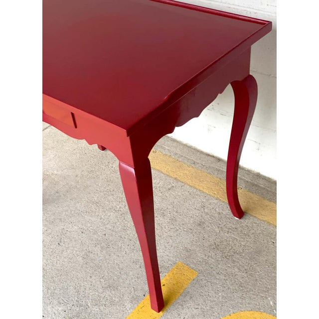 Bold Mauve Lacquered End/ Nightstands Tables For Sale In Atlanta - Image 6 of 10