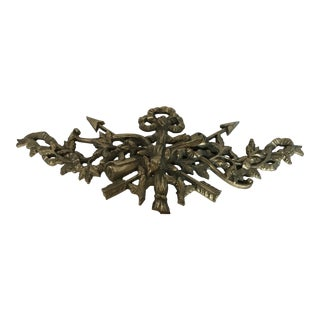 Heavy Brass Coat of Arms Wall Ornament Plaque